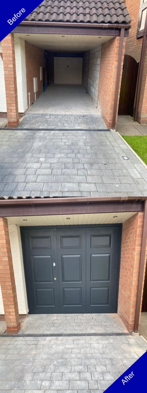 Doulton Doors Garage Door Before and After Photo